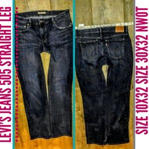 Levi's Jeans Size 10/30X32 505 Straight Fit NWOT